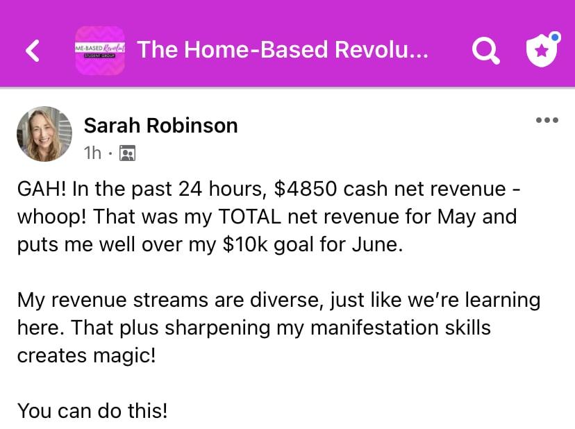 Sarah Robinson Home Based